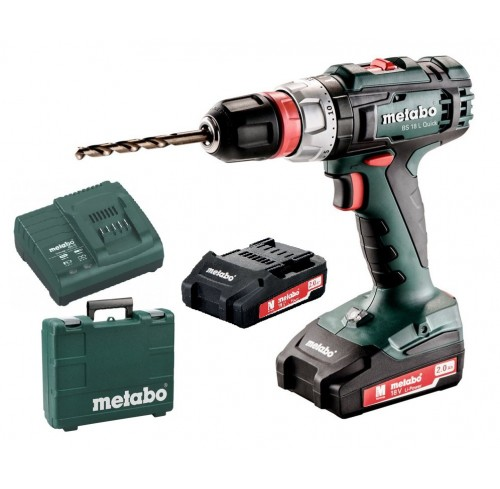 METABO BS 18 L QUICK - TRAPANO AVVITATORE + 2 BATTERIE